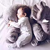 NHsunray かわいい象 動物ぬいぐるみ 子供まくらぬいぐるみおもちゃ ベビー枕/寝抱き枕 子供 出産お祝い 動物ぬいぐるみ プレゼント女性 彼氏 ぬいぐるみ ギフト 女の子 抱き枕60cm
