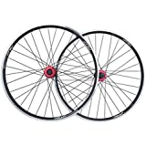 ZNND 26 自転車ホイールセット、バイク リア ダブルウォール MTB リム クイックリリース Vブレーキ ハイブリッド/マウンテンバイク ホールディスク 8 9 10スピード