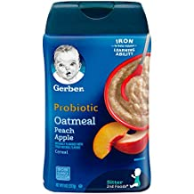 Gerber Oatmeal Peach Apple Cereal with Probiotic, 227g