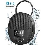 Waterproof Shower Speaker, AGPTEK Waterproof Bluetooth Speaker, Shower Radio with Bluetooth 5.0, LED Screen, Suction Cup, Support TF Card, Built-in MIC for Bathroom, Shower, Beach, Outdoor, Indoor