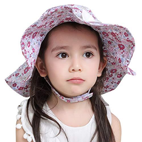 bed7b5a64d9da サファイアハット キッズ 子供 女の子用帽子 ガールズ 小学生 つば広 幼稚園 UVカット 日除け あご