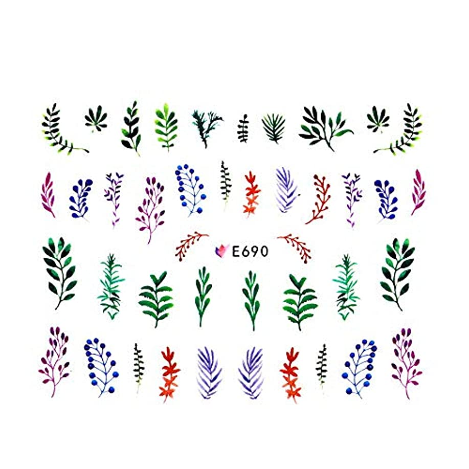irogel イロジェル ネイルシール 北欧風ボタニカルシール【E690】草花 フラワー 植物 草 葉