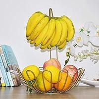 SLH モダンクリエイティブシンプルフルーツバスケットバナナフックリビングルームキッチンドライフルーツと野菜バスケット。