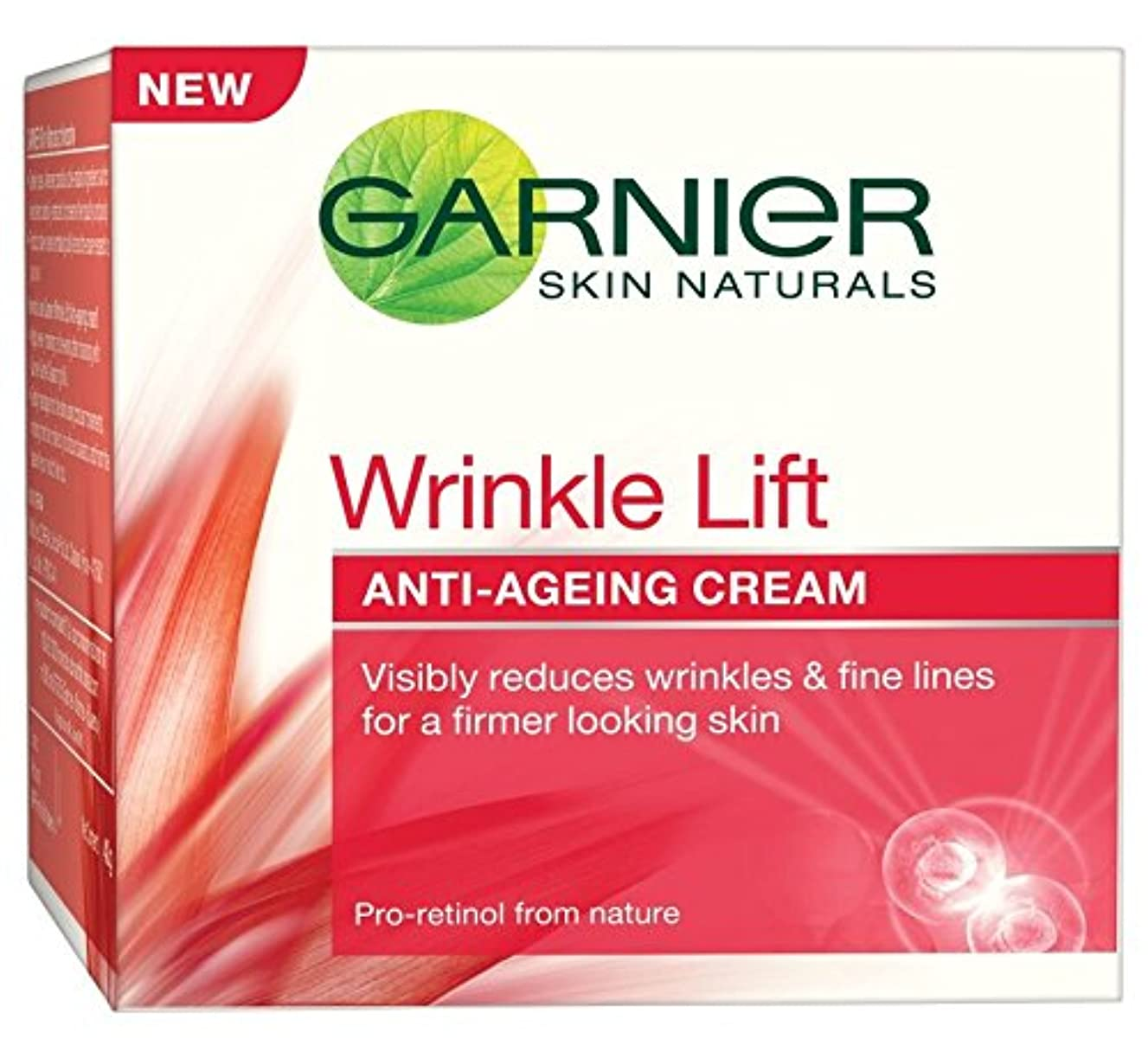 レンドむき出しみすぼらしいGarnier Skin Naturals Wrinkle Lift Anti Ageing Cream, 40g