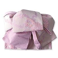 作り帯 浴衣帯 ツバメ結び結び帯 雪輪 ピンク 両面小袋半幅帯 レトロ モダン