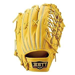 ZETT(ゼット) 硬式野球 プロステイタス グラブ (グローブ) 外野手用 トゥルーイエロー(5400) 左投げ用 BPROG670