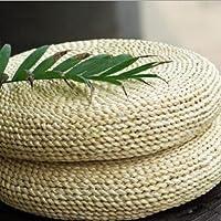 LB い草 座布団 蒲草 丸型 自然素材 編んだざぶとん 編み手作り 円座 おしゃれなヨガマット平伏や瞑想の座蒲団 D-065 (50X8cm)