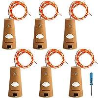 6個セット コルクライト AFUNTA 78インチ / 2 m ナイトライト 文字列ライト ボトルライト LED ライト LEDストリングライト イルミネーション ロマンチック レッド