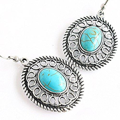 [해외]One &  Only Jewellery 청록색 타원형 둘러싸 후크 귀걸이 앤티크 풍의 K18GP 12 월 탄생석/One &  Only Jewelery Turquoise oval wrapped hook earrings Antique style K18GP December birthstone