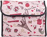 Dilly's Collections Hanging Flip Toiletry Cosmetics Travel Makeup Bag Carry Case for Woman Man Travel Organization Gift (Par