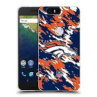 オフィシャル NFL カモフラージュ デンバー・ブロンコス ロゴ ソフトジェルケース Huawei Nexus 6P