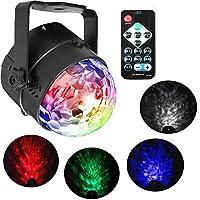 YULPING RGBWリモートコントロールLED舞台照明音魔法球ウォーターウェーブランプAC100-240Vをアクティブ化 室内照明 (Color : US plug)