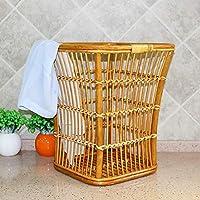 DCAH 汚れた服のバスケット汚れた服の保管用のバスケットラタンの収納ボックスラージーなホテルのバスルーム防水服洗濯青 Laundry basket (サイズ さいず : 33 * 33 * 40cm)