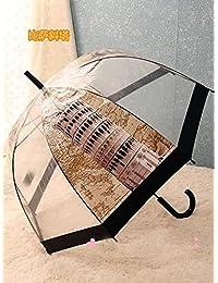 タワーof Pisa防風Construction印刷透明ドームBridcage紫外線対策傘