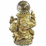 五龍財珠 ドラゴンボール(人工水晶玉)付 銅製 風水グッズ