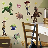 RoomMates rmk1428scs Toy Story Peel & Stick Wall Decals glo-inダーク、34Count