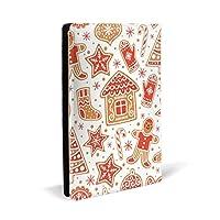 メリークリスマス PUレザー ブックカバー A5サイズ 文庫本サイズ ブックカバー 新書サイズ 選べるイニシャル ブックカバー