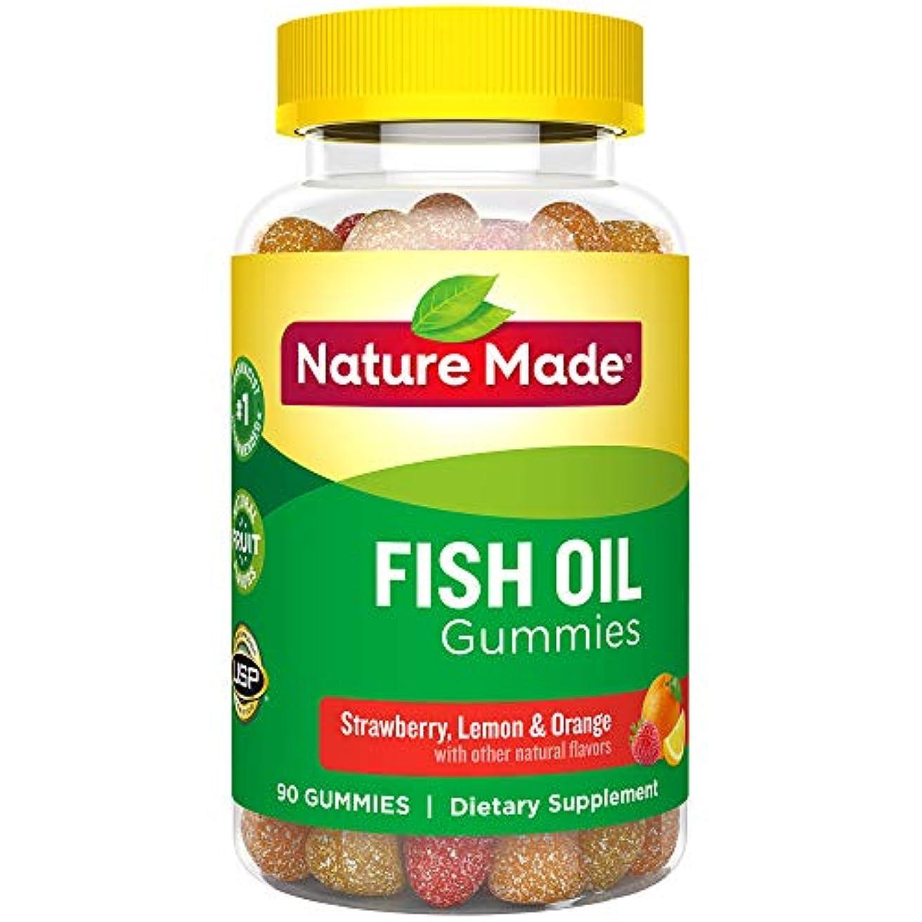 押す講堂積極的にNature Made Fish Oil Adult Gummies, 90 Count 海外直送品