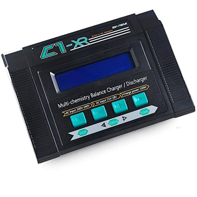 Crazepony EV-PEAK C1-XR リポバッテリーバランスチャージャー LiHV バージョン 100W 10A AC/DC JST 並行充電ボード