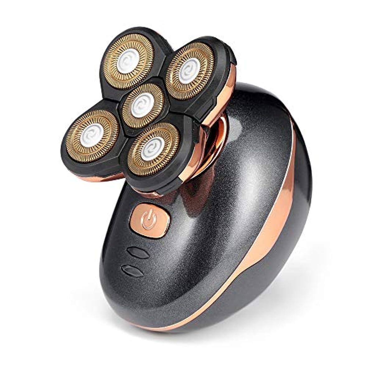 機械くぼみ明るいポータブルかみそり, 男性の毛のトリマーのための5ブレードかみそり電気シェーバー