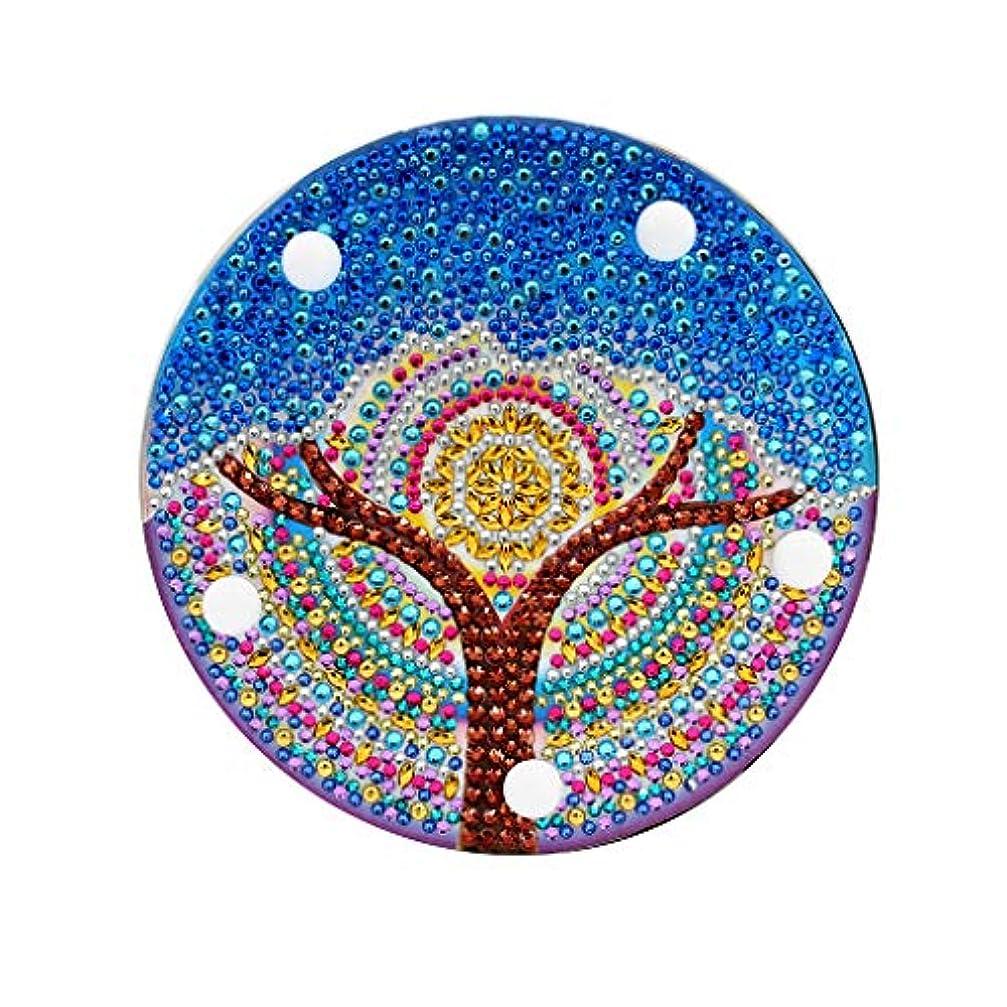 葉を集める三番検出可能Barlingrock バーリングロックDIYダイヤモンド塗装ライト刺繍フルドリル専用ダイヤモンドLEDライトダイヤモンド塗装スタイルランプ(青)