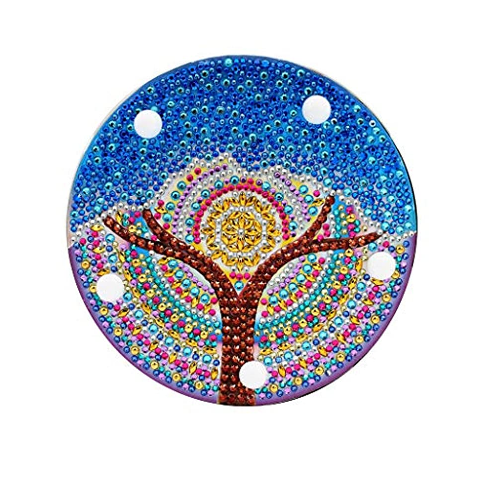 下向き退却どこにでもBarlingrock バーリングロックDIYダイヤモンド塗装ライト刺繍フルドリル専用ダイヤモンドLEDライトダイヤモンド塗装スタイルランプ(青)