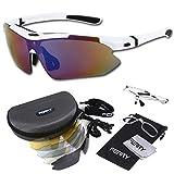 (フェリー) FERRY 偏光レンズ スポーツサングラス フルセット専用交換レンズ5枚 ユニセックス ホワイト