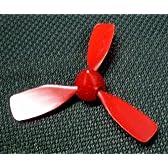 工作用・3葉プロペラ 赤 直径 8センチ