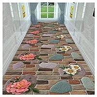 ZEMIN 廊下敷きカーペッ 高密度 表面 トレイル カーペット 家庭 保護 床、 2色、 マルチサイズカスタム (色 : A, サイズ さいず : 1.2x3m)