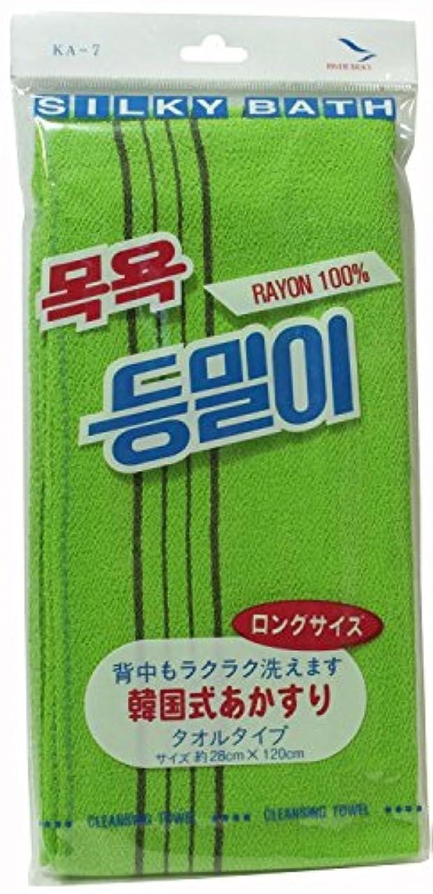 賄賂自体冒険者韓国発 韓国式あかすり タオル  ロングサイズ