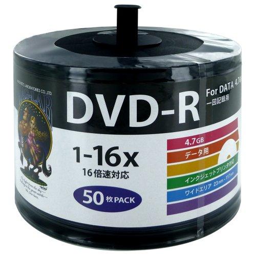 磁気研究所 HIDISC データ用 DVD-R 16速 50枚 ワイドプリンタブル エコパック HDDR47JNP50SB2