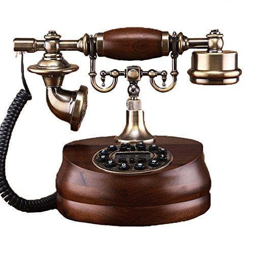 アンティーク電話機 ヨーロッパ風 装飾電話機 プッシュ式 骨...