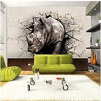 Mingld カスタム大-スケール壁画3Dステレオサイ壊れた壁テレビ壁の壁紙壁紙-120X100Cm