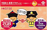 【中国本土・香港・マカオ】8日間 7GB利用可能 データ通信SIM 《China Unicom正規品》 設定簡単 使い捨てプリペイドSIMカード (1枚セット)