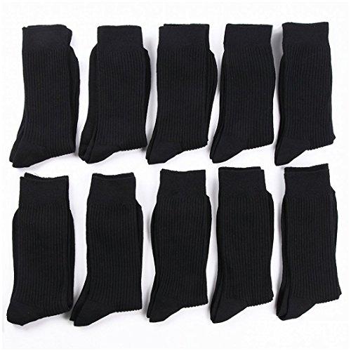 (ソックス ワン)socks one メンズ 靴下 抗菌 防臭 ビジネス リブソックス 10足セット (24-26cm, ブラック)