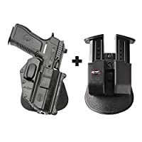 Fobus jr-2SHパドルConceal concealed carryホルスターIWI Jericho 941樹脂フレームPL / RPL、PSL / RPSL、FBL / RBL + 6909NDダブルマガジンポーチ