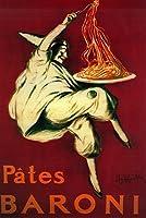 Pates Baroniヴィンテージポスター 24 x 36 Signed Art Print LANT-1992-710
