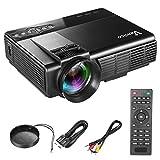 プロジェクター Vemico テレビ プロジェクター 1080P フルHD ホームシアター プロジェクター 1800ルーメン 台形補正 パソコン/スマホ/タブレット/ゲーム機など接続可能 USB/SDカード/HDMI/AV/VGAサポート