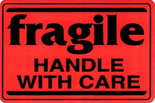 [해외]FRAGILE 카드 크기 꼬리표 스티커 7.6cm × 5cm 10 장 세트 [병행 수입품]/FRAGILE card size ticket seal 7.6 cm × 5 cm 10 pieces set [Parallel import goods]