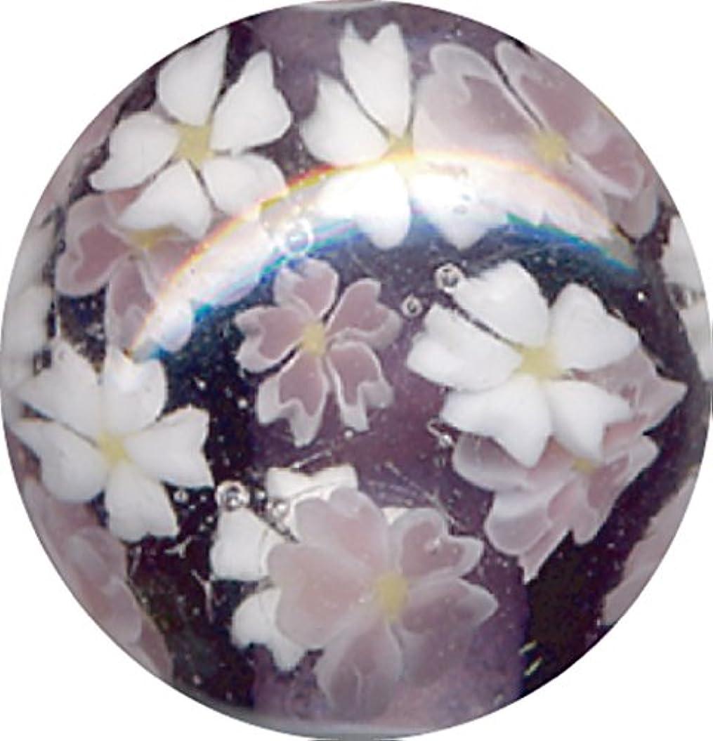 葉を拾う物質慎重にとんぼ玉 桜柄 紫