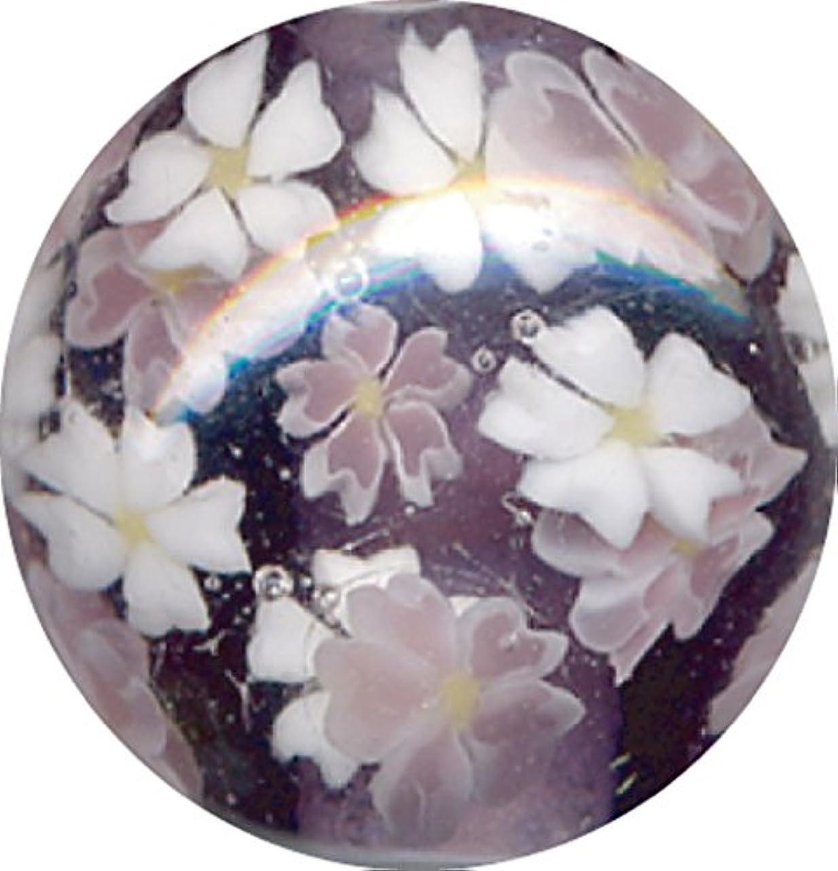 冷ややかな銅去るとんぼ玉 桜柄 紫