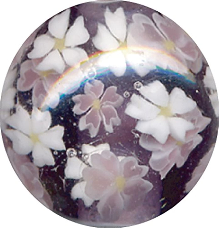 ドリンクベギン群集とんぼ玉 桜柄 紫