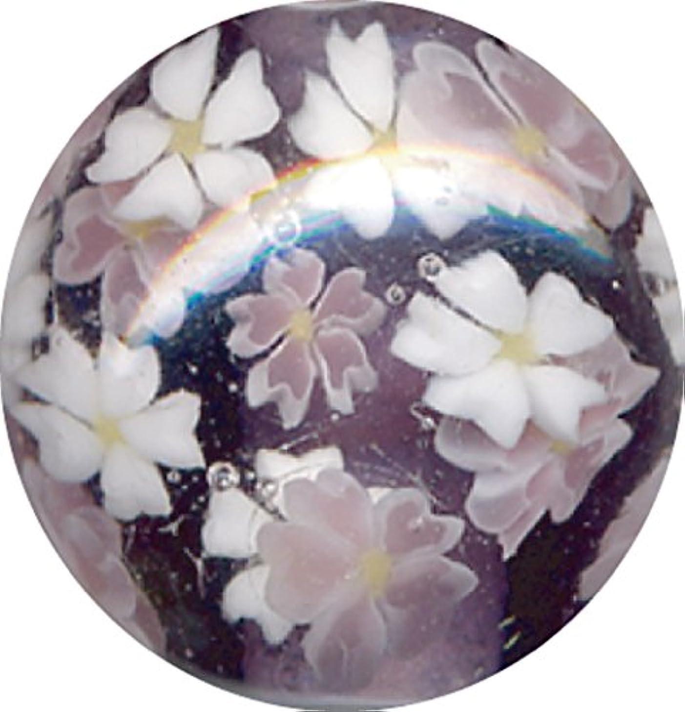 レコーダー佐賀好きとんぼ玉 桜柄 紫
