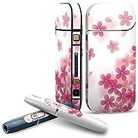 IQOS 2.4 plus 専用スキンシール COMPLETE アイコス 全面セット サイド ボタン デコ フラワー 桜 さくら ピンク 000257