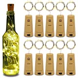 Betus 10 Pack Wine Bottles Cork String Lights - Battery Powered - Decorations for Garden, Wedding, Christmas & Party - Warm Light – 10 LEDs/3 Ft (Packs of 10)