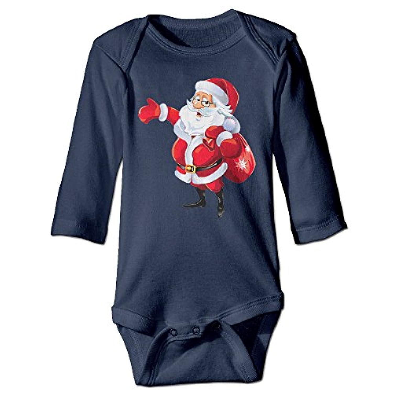 NINKI ベビー服 クリスマス サンタ爺さん 送り物 長袖 カバーオール 6ヶ月~24ヶ月 100%コットン 出産祝い Navy