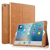 BoriYuan iPad Pro 10.5対応ケース ヴィンテージ風 本革ケース スリムフォリオスタンドカバー Apple iPad Pro 10.5インチ用 複数の視聴角度 自動スリープ/スリープ解除機能 カードスロット付き ブラウン B-IPAD10.5-ZPPW
