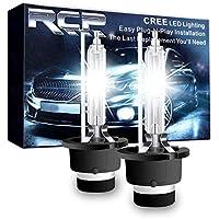 RCP HIDバルブ 車用ヘッドライト D2S/D2R汎用 純正交換 35W Xenon HID 6000K 発光色選択可能 明るさアップ 加工なし 2年保証 RCP-D2C