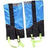 MagiDeal 1 Pair Outdoor Hiking Camping Walking Hunting Waterproof Snow Legging Gaiters Shoe Boot Cover - Sky Blue & Black