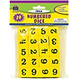 TEACHER CREATED RESOURCES FOAM NUMBERED DICE NUMERALS 1-6 (Set of 6)